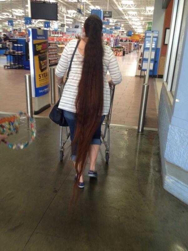Long brown hair down to the floor | Long hair in public ...