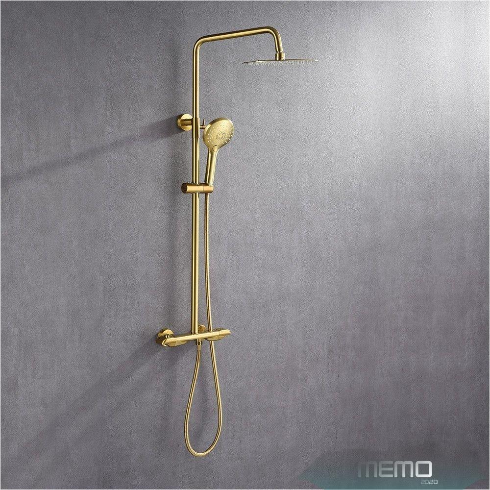 Jun 10 2020 Modern Luxury Exposed Shower System Thermostatic 10 Kitchendecor Showeraesthetic Kitchenremodel Bedroomidea In 2020 Duschsysteme Duschkopf Gold Bad