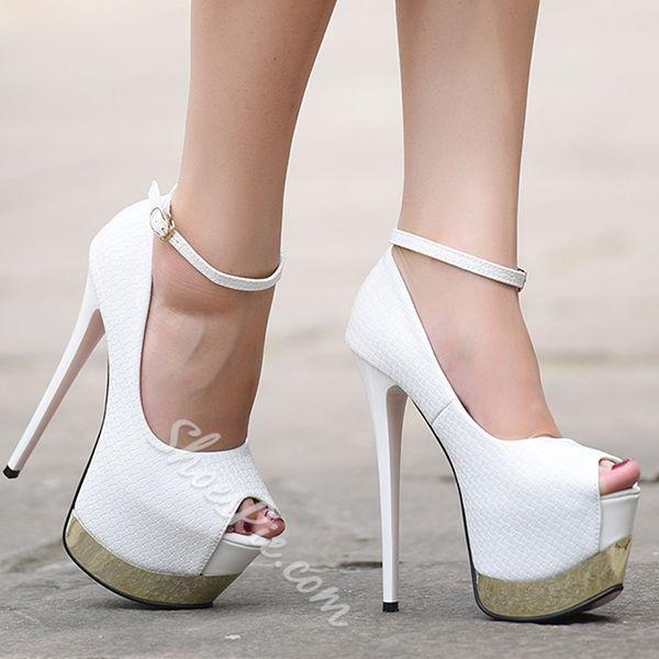 d7890c0f1e085 Shoespie Classy Night Club Sky High Platform Heels