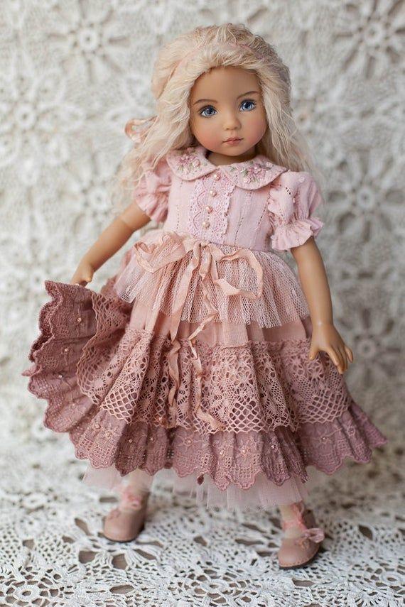 Pattern/Dress for Effner doll 13 Little Darling/PDF #dolldresspatterns