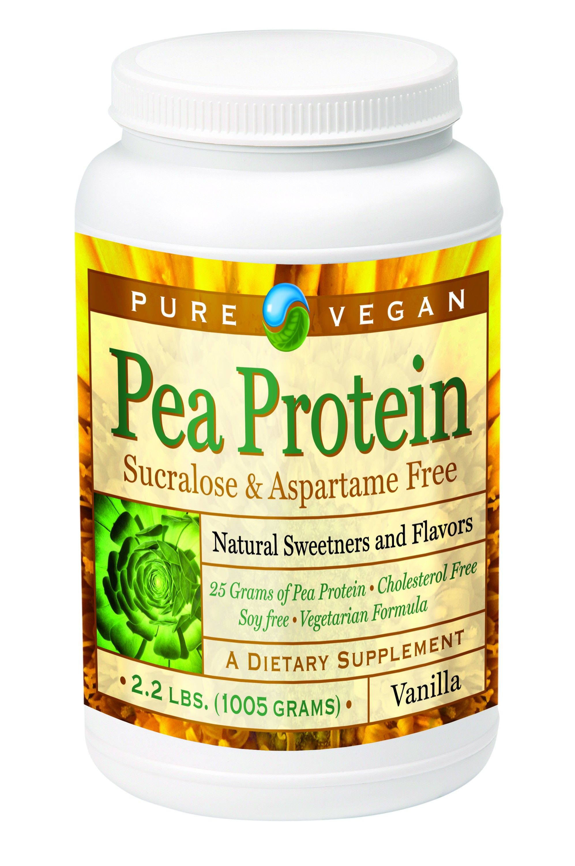 Pure Vegan Pea Protein Vanilla 100 Natural Pea Protein A New Frontier In Quality Protein A Non Gmo Pro Pea Protein How To Eat Better Vegetarian Supplements