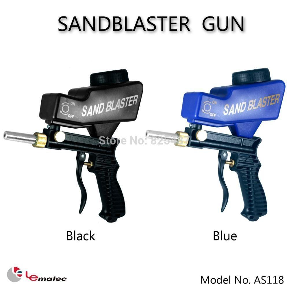 LEMATEC Gravity Feed Sandblaster Gun Air Sandblasted Media Spray Gun