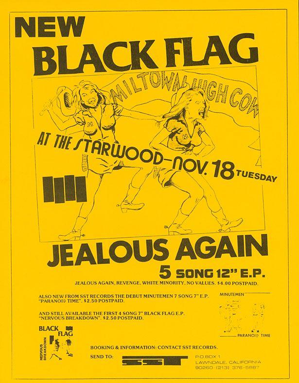 Starwood Black Flag Concert Flyer Rock Posters