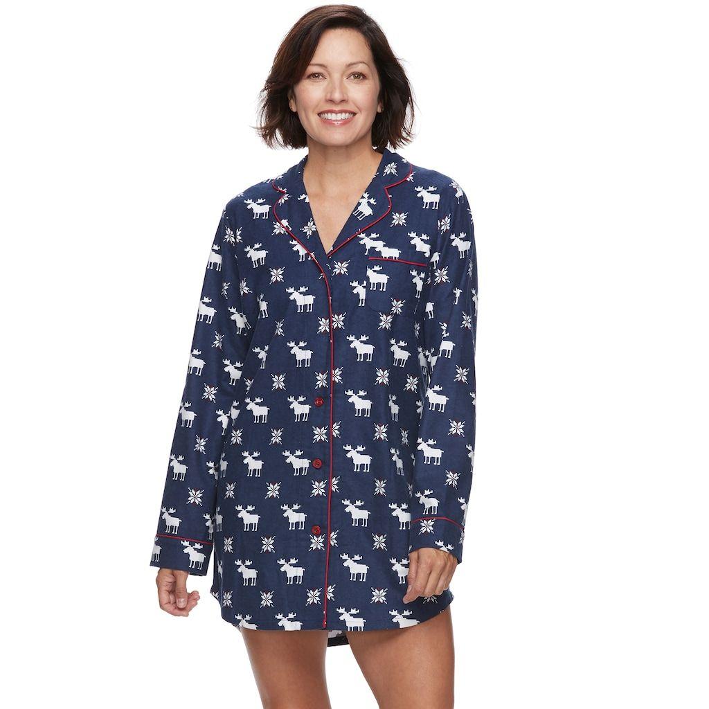 adfcea42ab Women s Star   Skye Pajamas  Long Sleeve Flannel Sleep Shirt