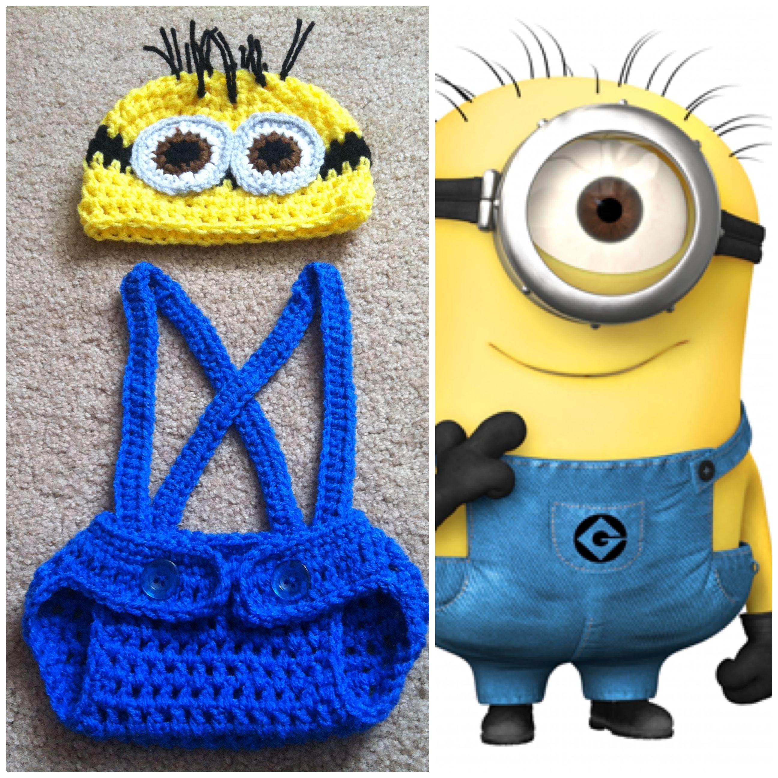 Crochet Minion Outfit | Crochet | Pinterest | Cubre pañales, Tejido ...