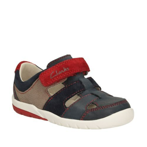 e8ee8dc063b Softly Moon First Navy Combi Sde - Boys Walking Shoes - Clarks® Shoes