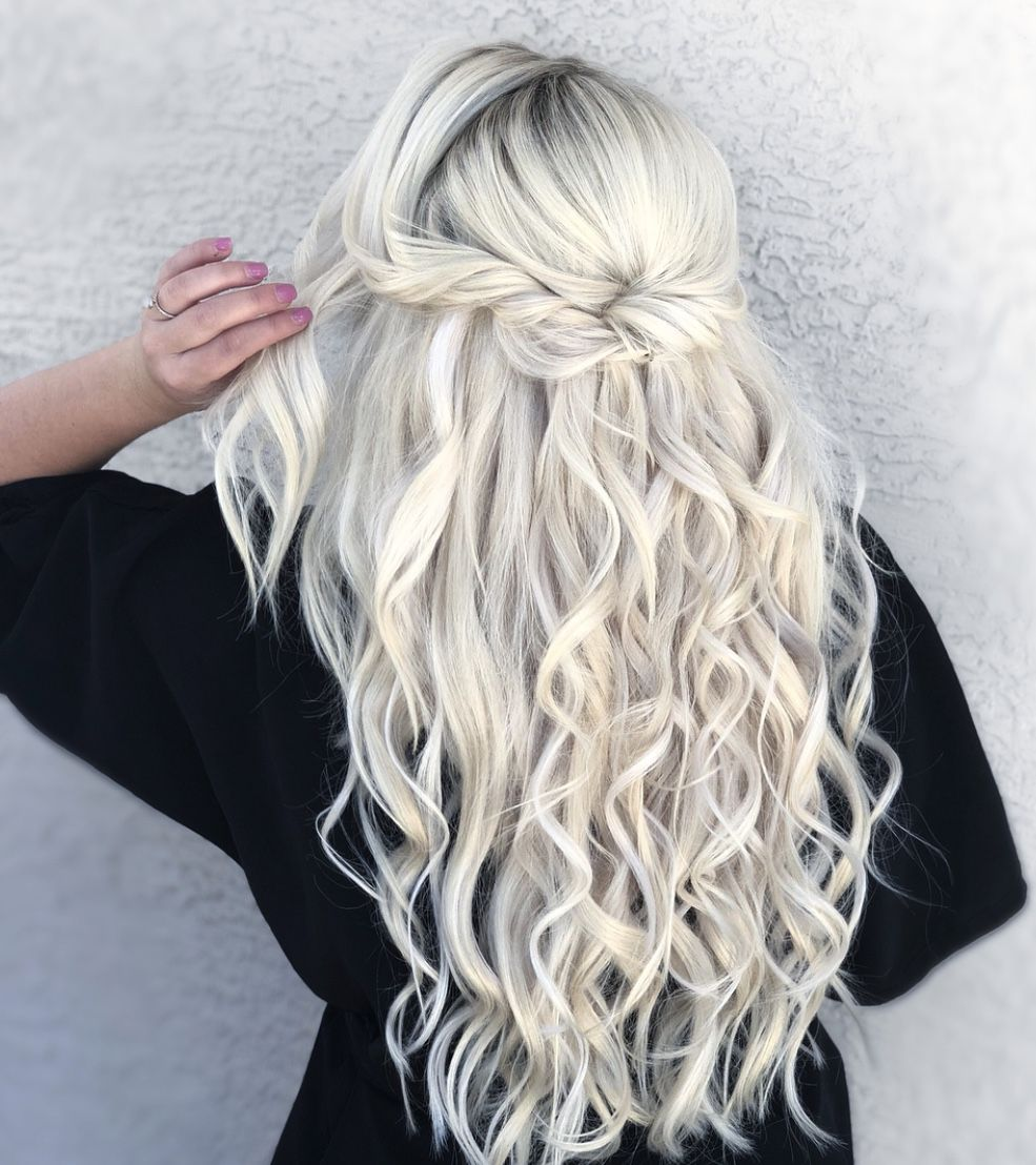 Wedding Hair Long Hair Extensions Half Up Style