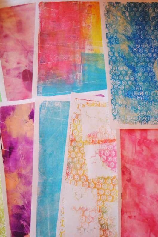 Gelli printing with minimal stuff stenciling gelli for Minimal art journal
