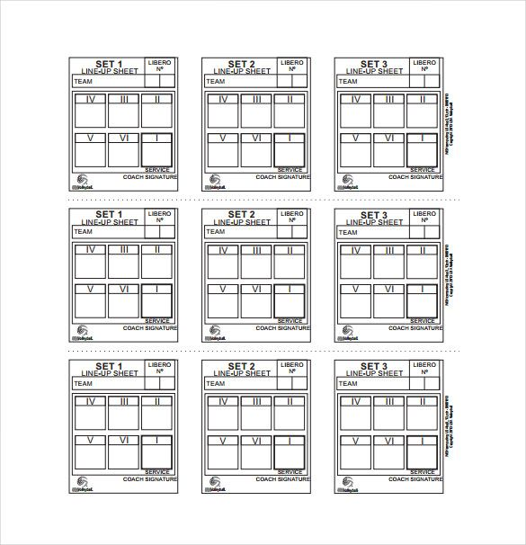 photo regarding Printable Volleyball Lineup Sheet titled Graphic final result for Blank Volleyball Lineup Sheets Printable