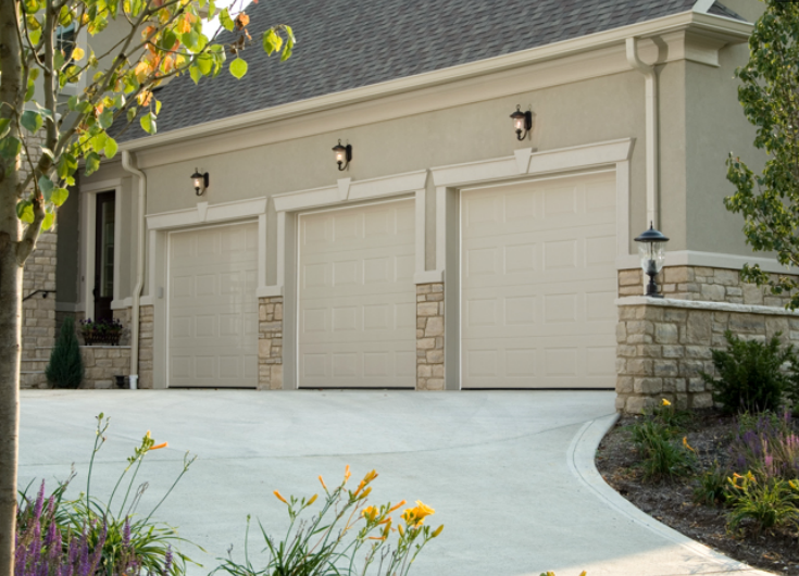 780 Haas Raised Short Panel In Sandstone Garage Door Springs Garage Door Company Garage Doors