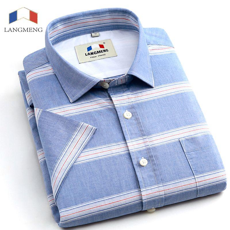Mens Shirt Luxury Pure Cotton Short Sleeve