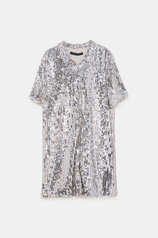 cc8f65c11bc3 Image 6 of SEQUIN SHIRT DRESS from Zara   Fall runway   Dresses ...