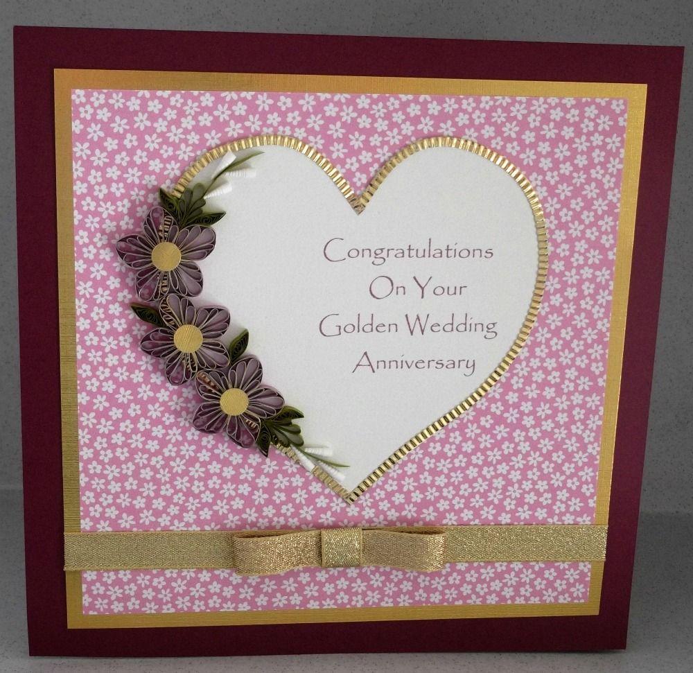golden wedding card making ideas%0A Part   of Daisy  Paper quilling golden wedding card
