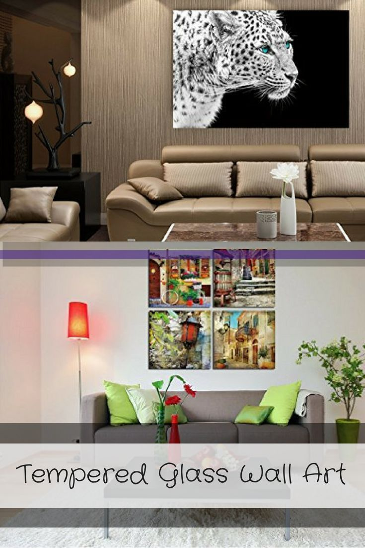 I love the look of tempered glass wall art it can be placed in any