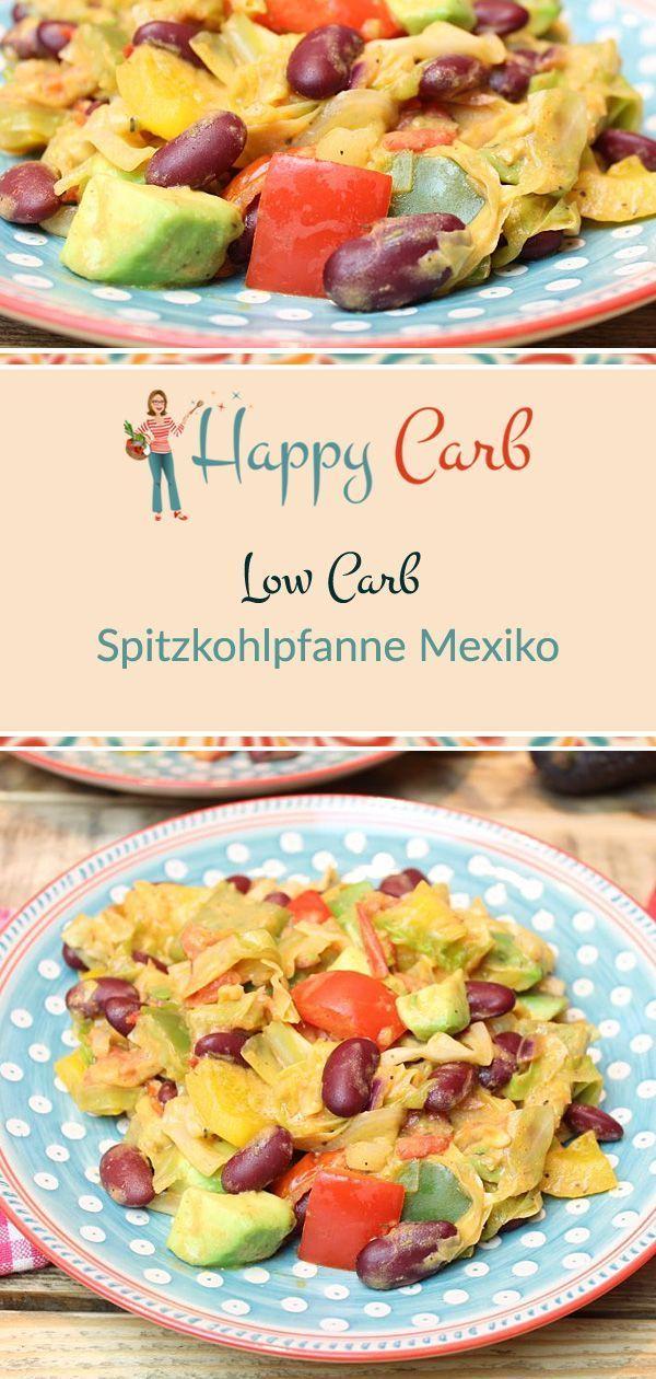 Spitzkohlpfanne Mexiko - Happy Carb Rezepte