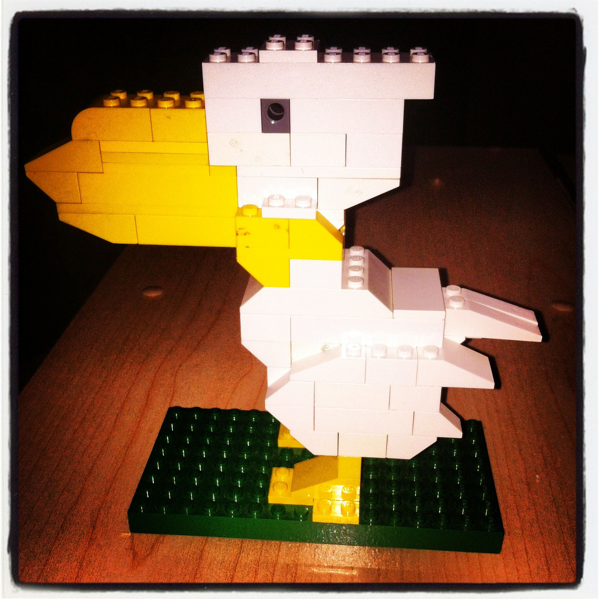 My son built a Lego Pelican for a school project