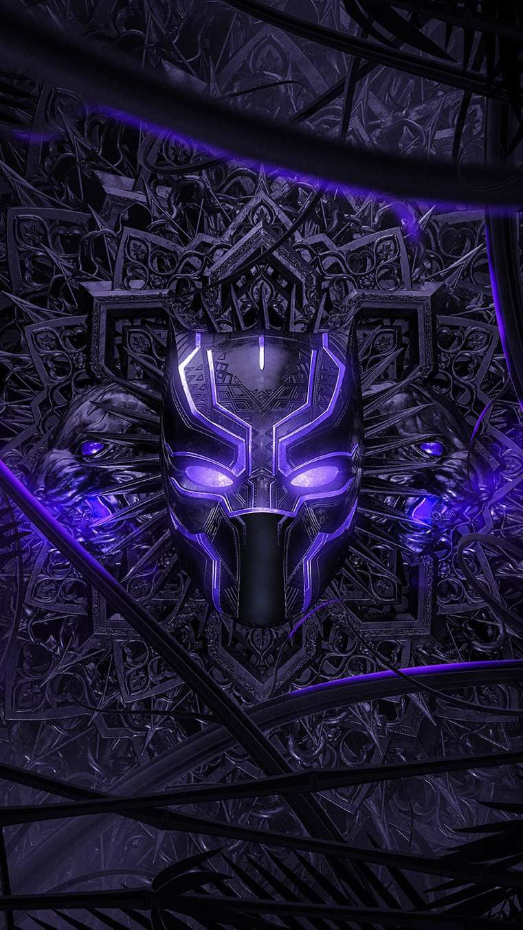 Black Panther Purple Vibranium Suit Iphone Wallpaper Black Panther Marvel Black Panther Black Panther Art