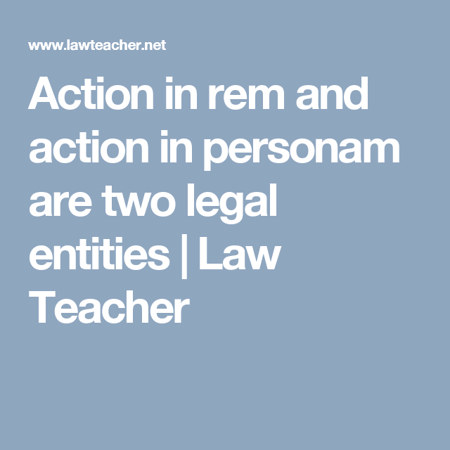 action in personam legal definition