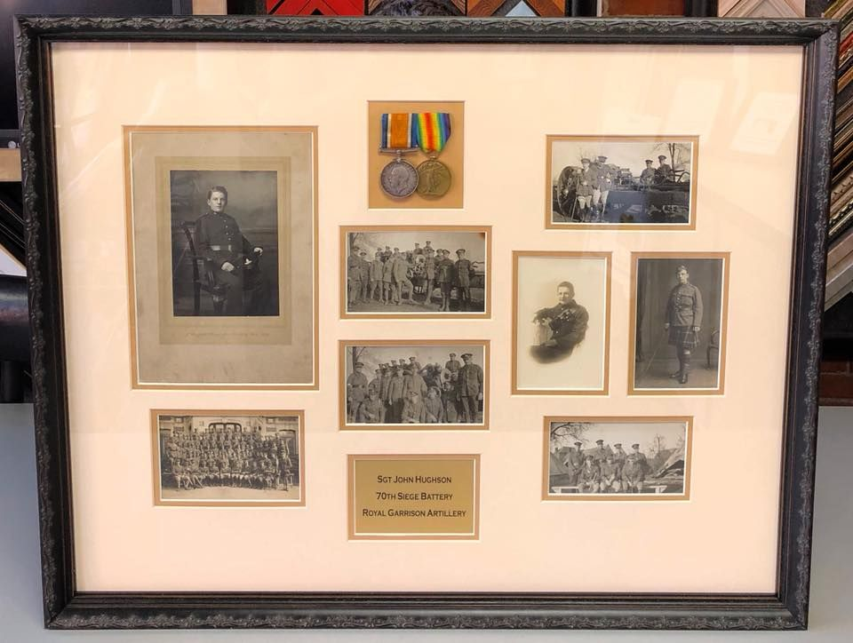 Royal Garrison Artillery collage custom framed acid-free matting, UV ...