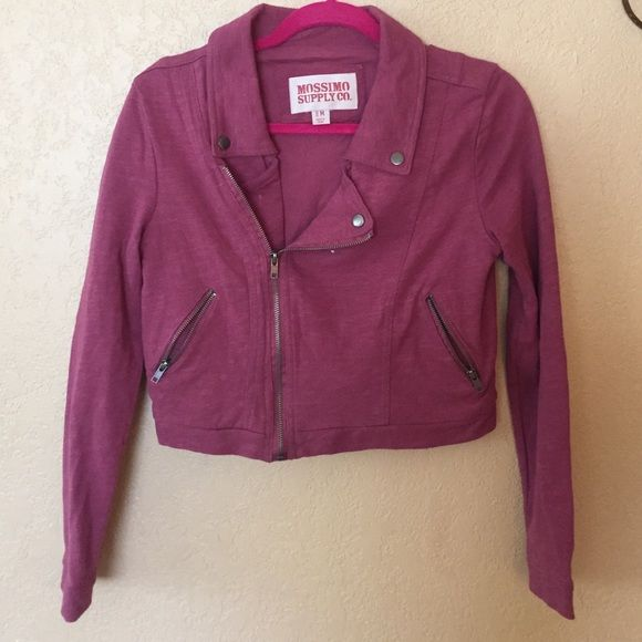 Mossimo Cropped Jacket Rose color. Motorcycle style. Mossimo Supply Co. Jackets & Coats