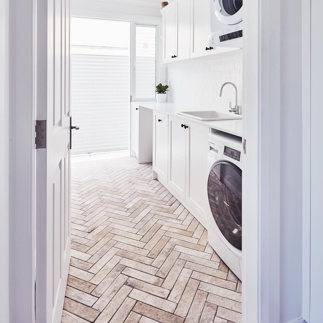 These Herringbone Floor Tiles Are The Business! They Look