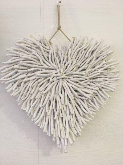 WALL DECOR - DRIFTWOOD HEART WHITE | Dream Homes and Decor Ideas ...