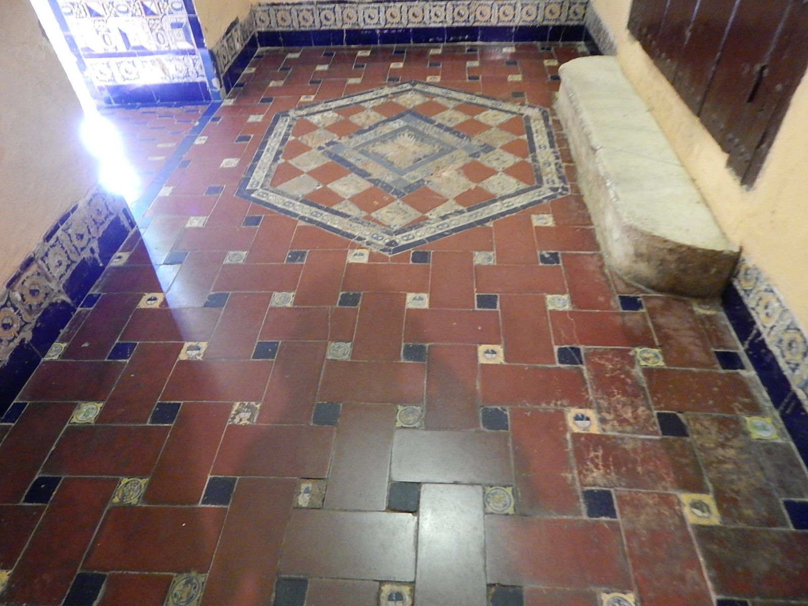 The rich warm colors add to this basket weave tile floor in seville the rich warm colors add to this basket weave tile floor in seville dailygadgetfo Choice Image