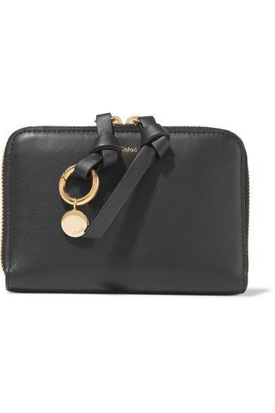 d7cd43cd Chloé - Alphabet Leather Wallet - Black | Fashion | Wallet, Real ...