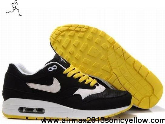 New Black White Solar Flare White Nike Air Max 1 308866 005