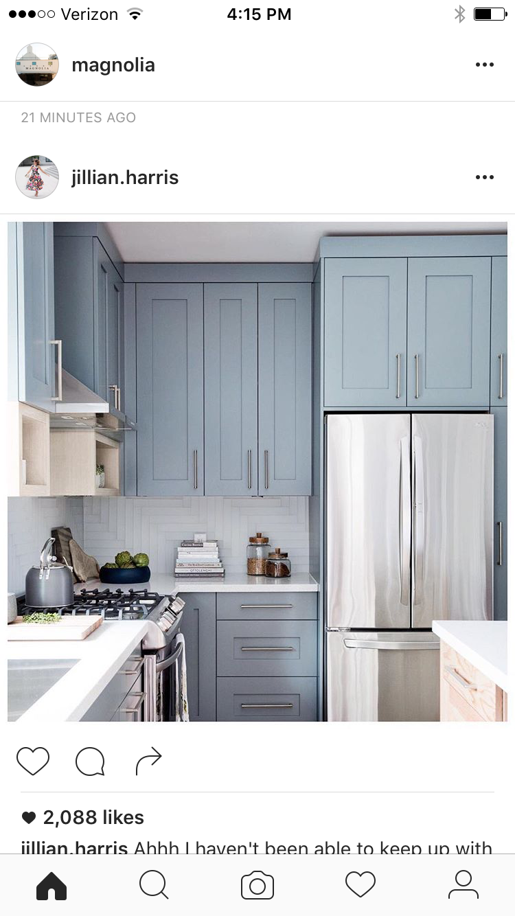 Laundry room cabinets- smoky blue color | from the ground up ...