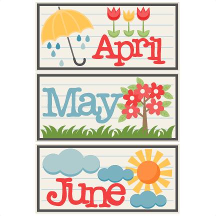 April cute. May june titles svg