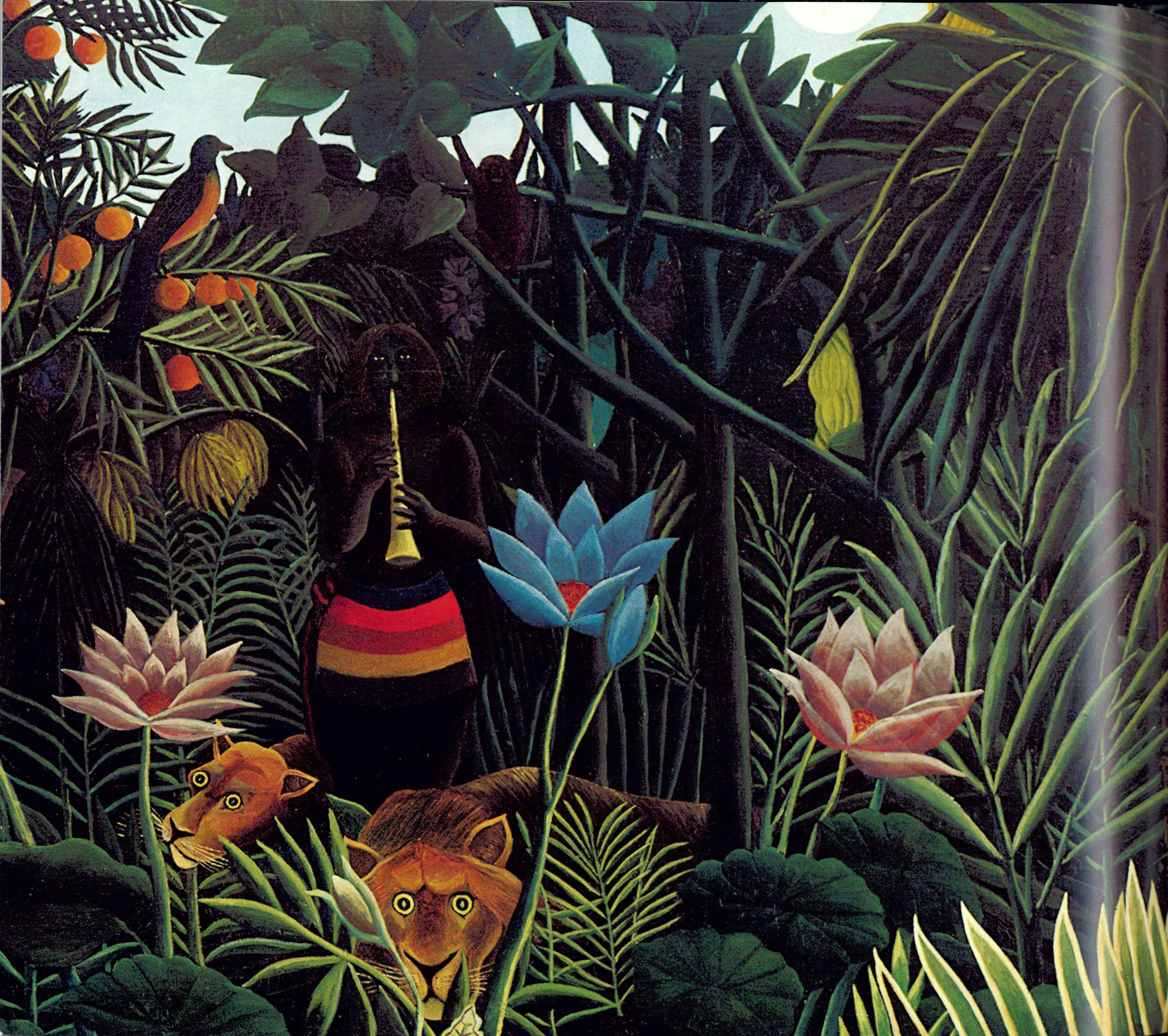 Henri Rousseau - Traumgarten (Dream garden) | Eerie art ...