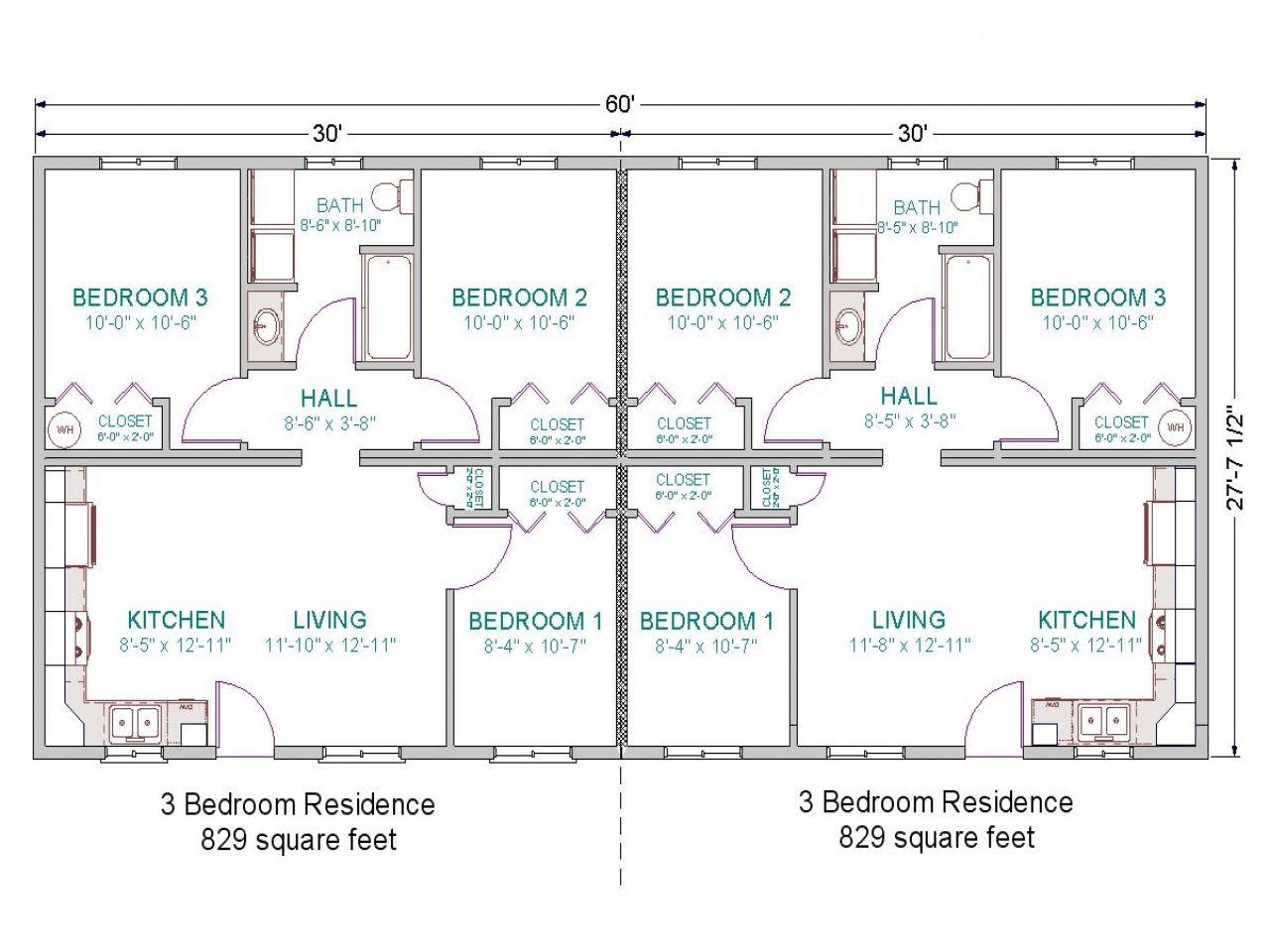 Simple Duplex House Plans 3 Bedroom Duplex Floor Plans Simple 3 Bedroom House Plans Duplex Floor Plans Modular Home Plans Duplex Plans