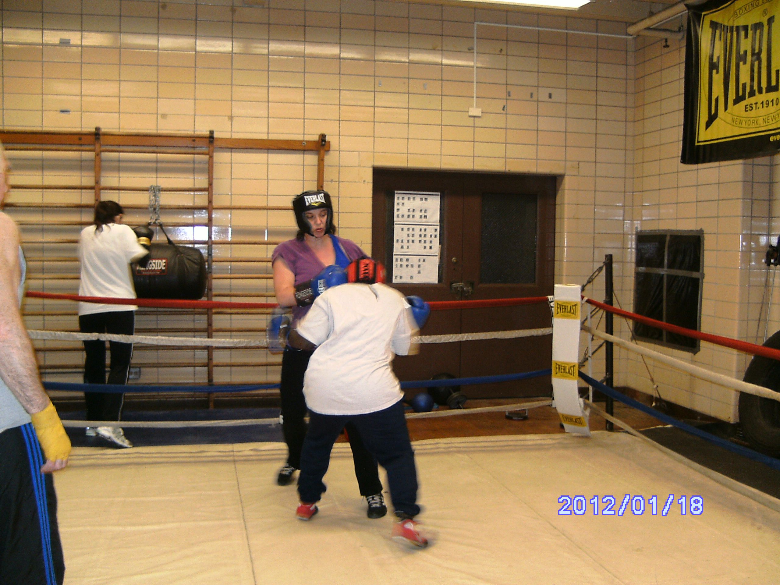 Sarah and I sparring in the ring  Boxing Is The Best Sport