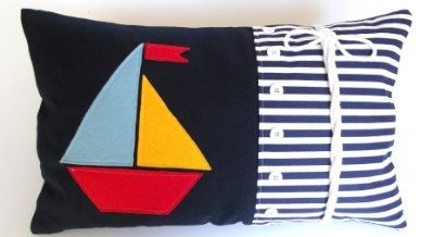 Another cushion just added to my nautical range!  Handmade nautical 100 cotton cushion cover by The Crafty Fox Boutique, £20.99 (2 Sizes available)