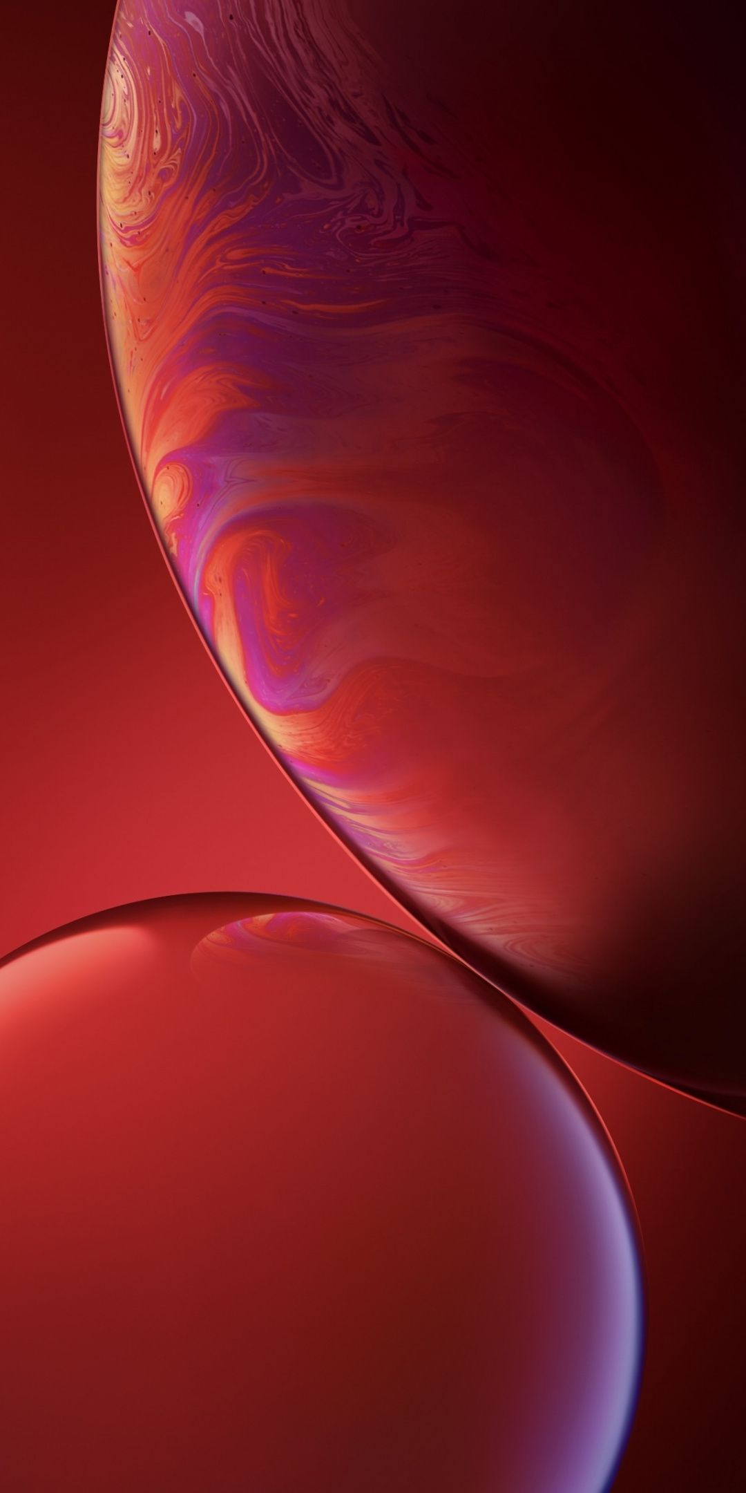 Bubbles Red Iphone Xr Ios 12 1080x2160 Wallpaper Iphone Red Wallpaper Apple Wallpaper Iphone Apple Iphone Wallpaper Hd