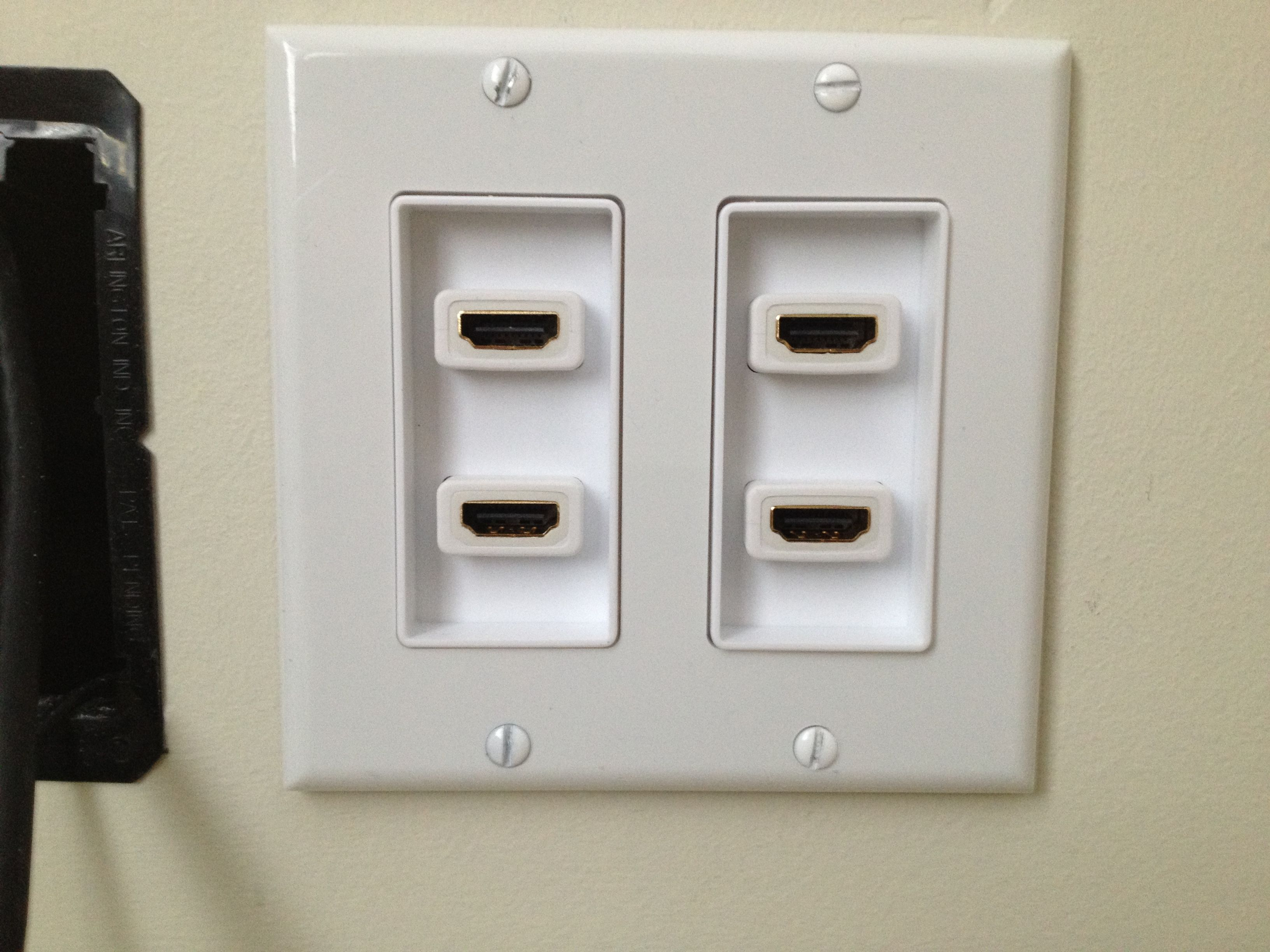 custom wall wall plates forward 4 port 2 gang hdmi wall plate