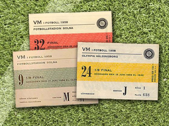 World Cup tickets from 1958, Sweden