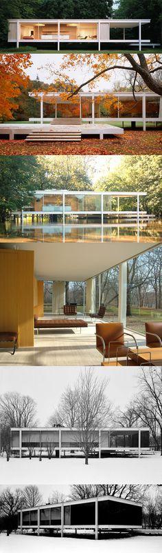 Farnsworth house mies van der rohe in srtajara mies van for Casa minimalista de mies van der rohe