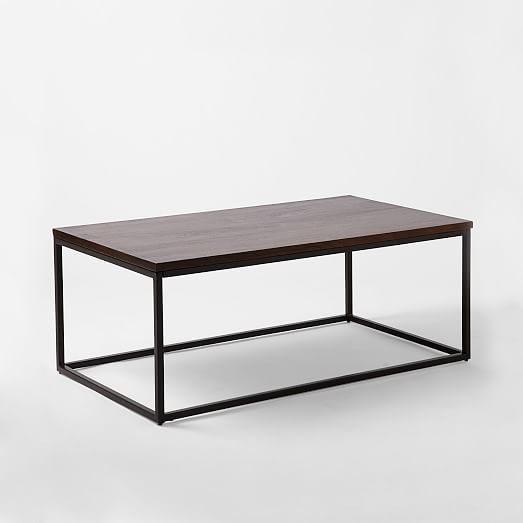 Box Frame Coffee Table - Wood/Antique Bronze | west elm | Living ...