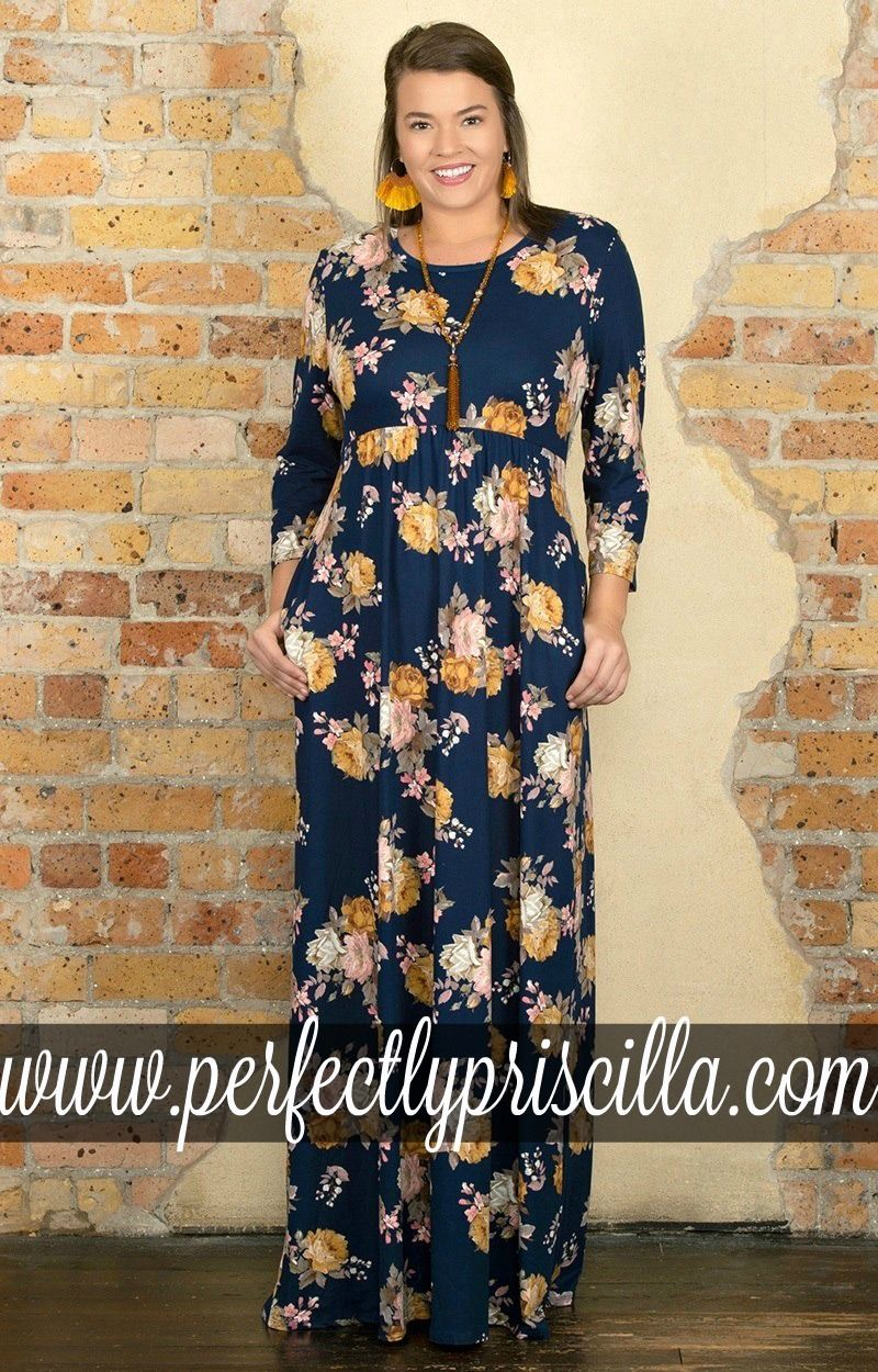 Plus Size Floral Maxi Dress Boutique