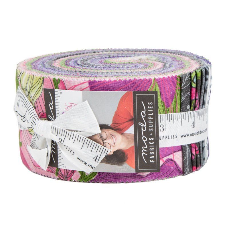 """Moda SWEET PEA AND LILY 40 2.5/"""" Quilt Fabric 48640JR Jelly Roll Robin Pickens"""