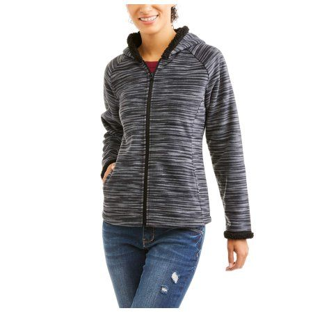 547f8f47fea Faded Glory Women s Microfleece Hoodie With Cozy Sherpa Lining - purchased  for working in garden and with chickens