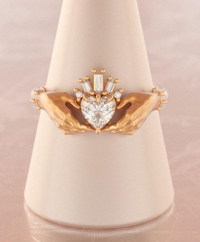 Claddagh Ring WomenCladdagh Wedding RingHeart Promise | Etsy