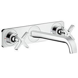 Hansgrohe Axor Citterio E 3 Hole Fitting 36115000 Chrome Flush Mounted Panel Wall Mounted In 2020 Widespread Bathroom Faucet Faucet Bathroom Faucets