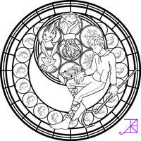 Jack Frost Stained Glass Coloring Page