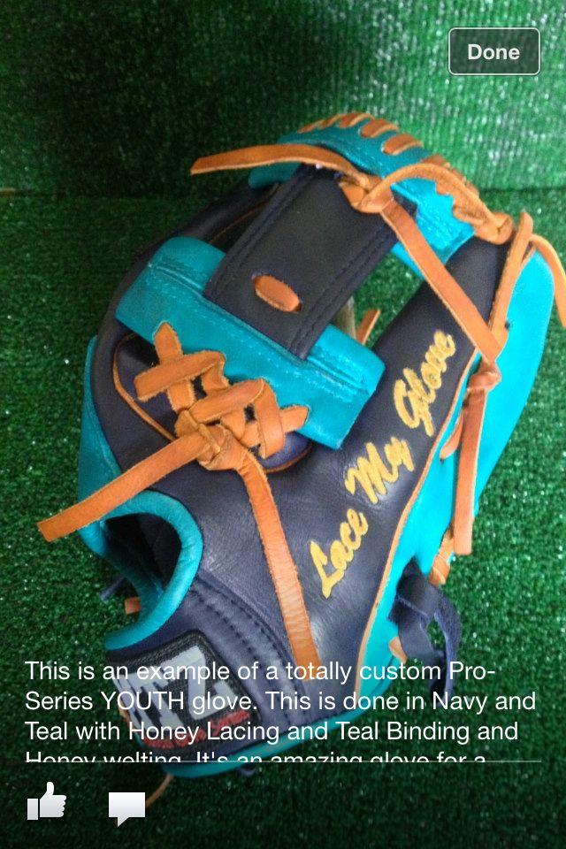 Custom Baseball And Softball Glove Lacing And Relacing Softball Gloves Custom Baseballs Baseball Softball