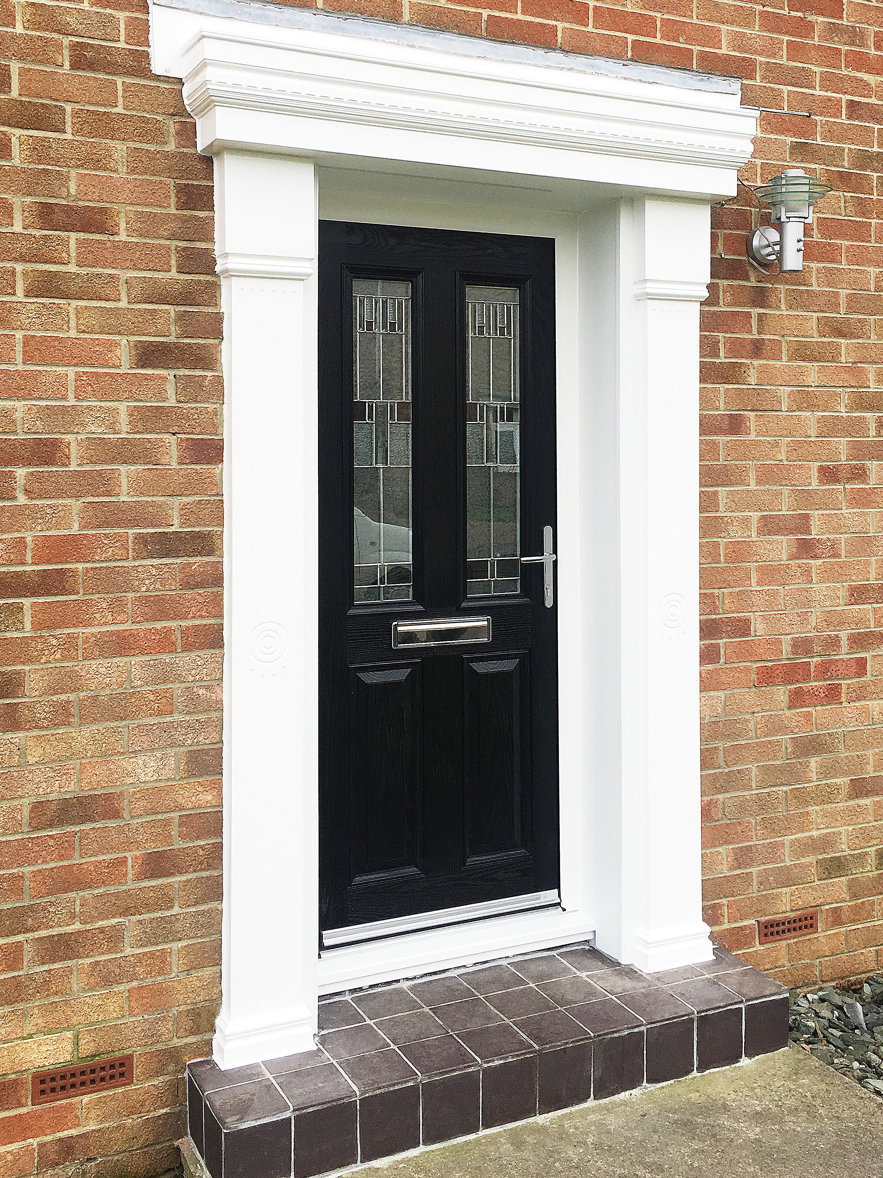 Classical meets modern a black altmore composite door design with