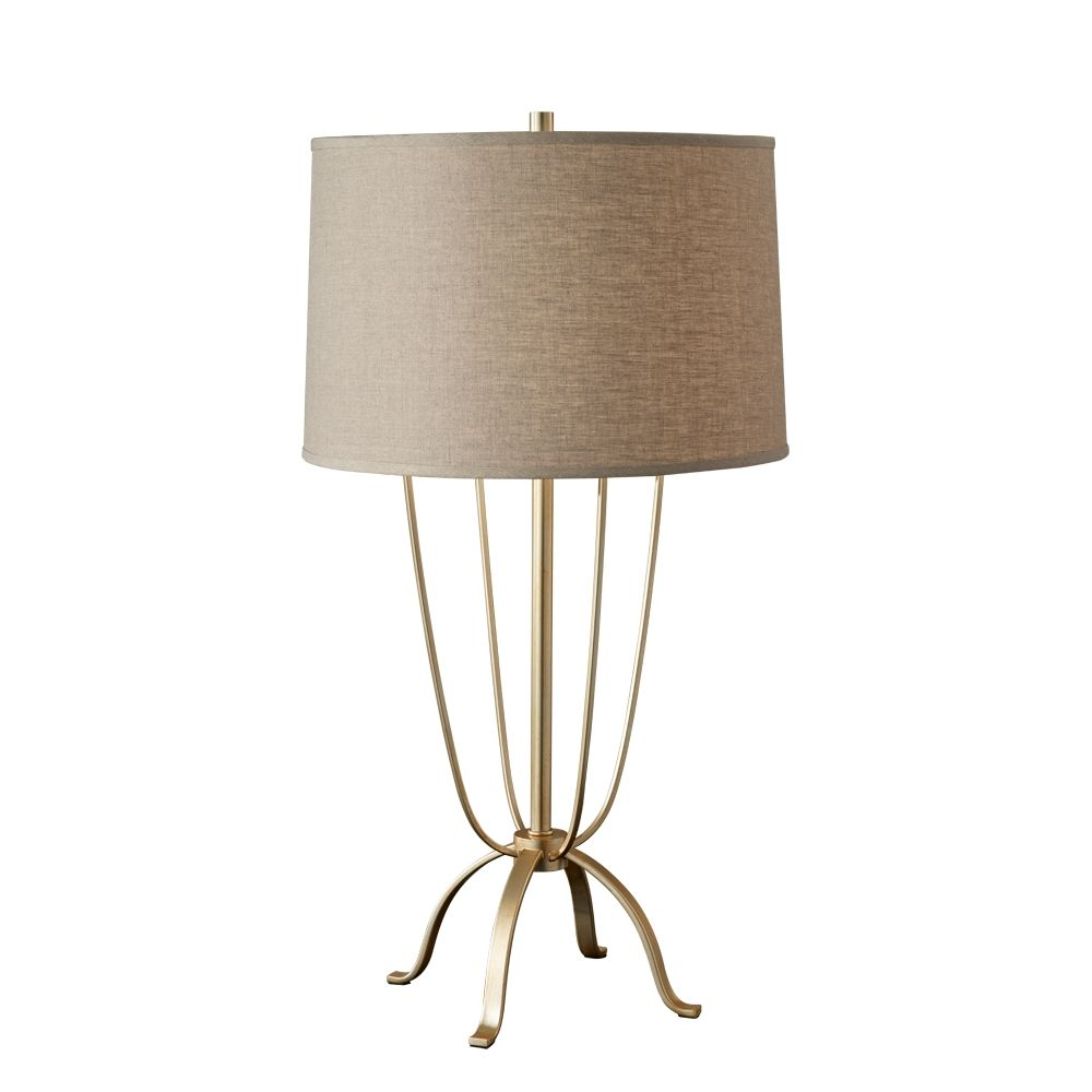 Table Lamp Feiss 10198mnd Finish Metallic Moondust Glass Toasted Wheat Linen Dimensions D 17 H 30 7 Lamp Table Lamp Table Lamp Shades