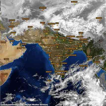 india satellite weather map today Insat Weather Latest Satellite Images And Maps Of India india satellite weather map today